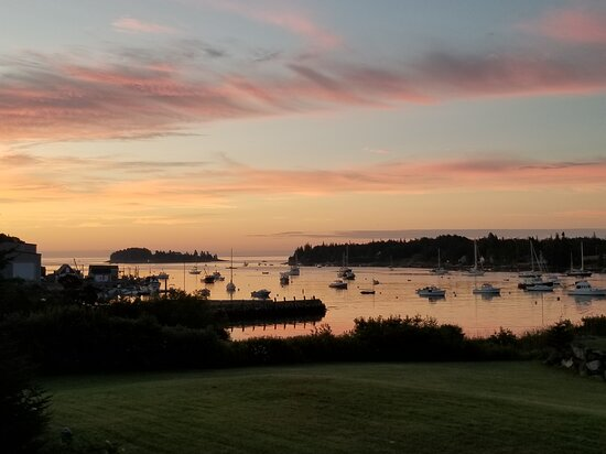 Tenants Harbor, ME: View From deck of Annex