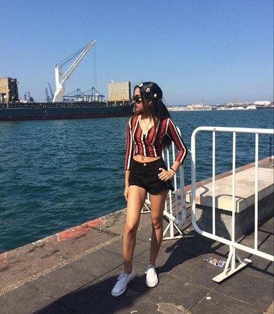 Esta foto fue tomada  en el malecón del puerto de Veracruz.