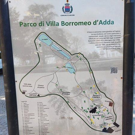 Arcore, Itália: Mappa del parco