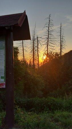 Tremosnice, Tjekkiet: Západ slunce u mapy