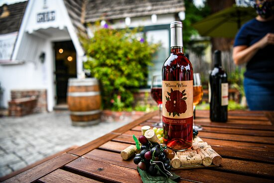 Enjoy some rosé on our socially distanced soquel tasting patio