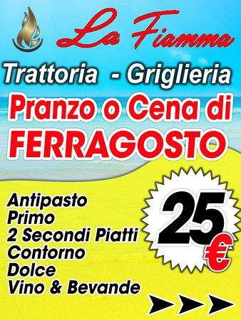 Prenota il tuo pranzo di Ferragosto!!!!