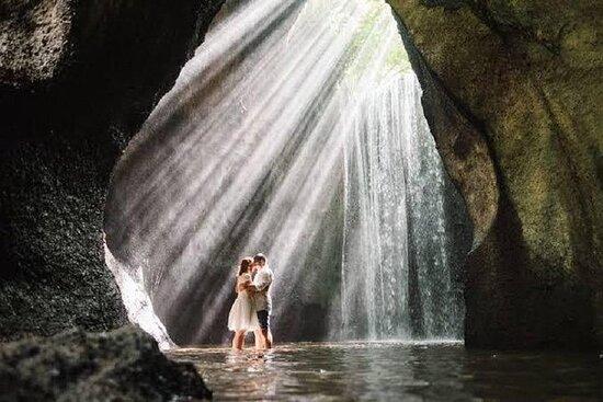Maravilhoso das cachoeiras de Ubud...