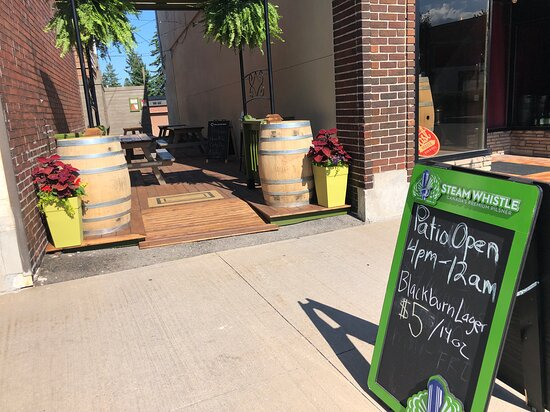 Please join us on our brand new patio!