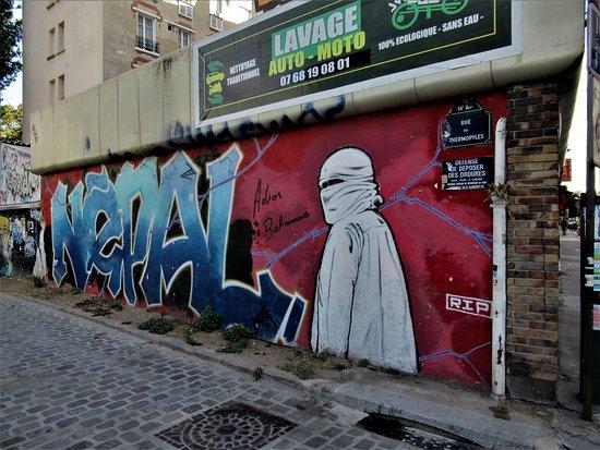 """Fresque """"rappeur Népal"""""""