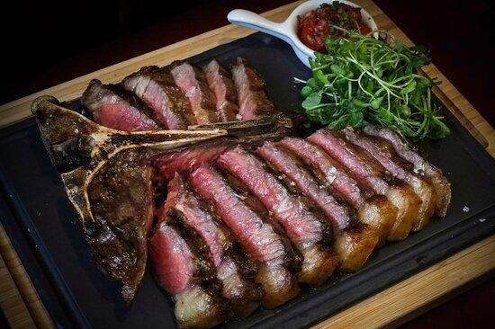 Sharing steak