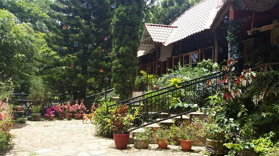 Catarina, Nicaragua: Downstairs terrace...