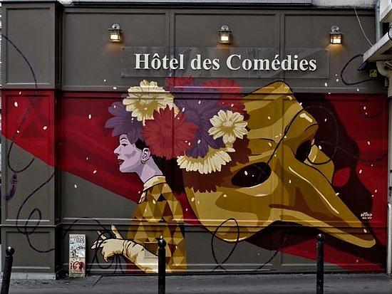 """Fresque """"Hôtel des Comédies"""""""