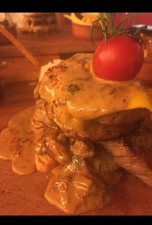 The masterpiece signature steak ..up close.. divine
