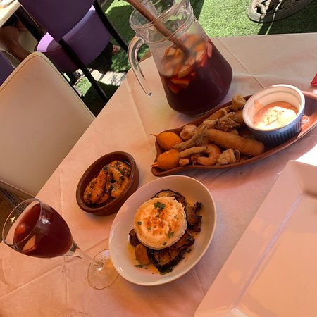 Very authentic Spanish tapas and delicious food and refreshing sangria!