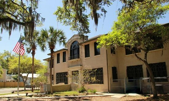 Saint Augustine Beach, FL: A sunny day at the Lincolnville Museum and Cultural Center.