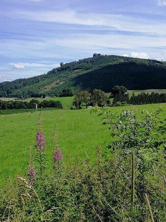 Bruchhausen, Tyskland: Uitzicht op de Bruchhauser Steine