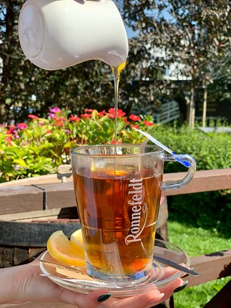 Tea with honey, lets celebrate the bee day :) in Cucina Wilanow.
