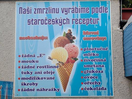Chlumec nad Cidlinou, Tsjekkia: Složení zmrzliny.