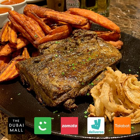 Staying in town this summer? No need to travel for great food like this succulent Roast Lamb Shoulder served with our homemade mint yoghurt. Order now on Talabat, Zomato, Careem and Deliveroo
