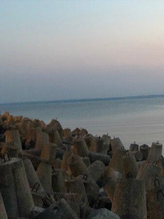 Hel Peninsula, Polen: Wejście na plaże od strony zatoki Płuckiej