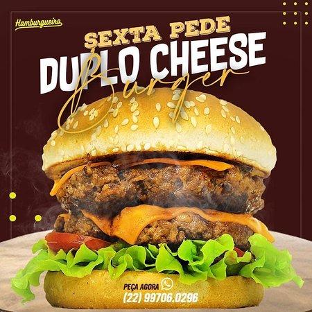 Duplo cheese burger artesanal