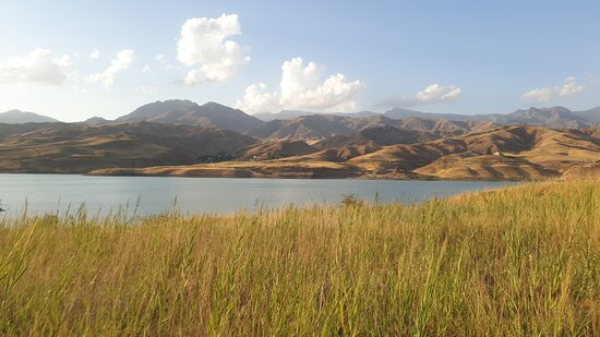 """This is by Dam/lake Taleqan. Until now the cleanest water i swam in in Iran. Friendly locals, you have to go through the """"fence"""". No need to say which side of the lake you should be at, the far side! You can stay in ⛺ by the riverside.  Possible to rent for €10 night for a 1 singel star 🌟 over 🌙. Well roof over head and ME WC."""