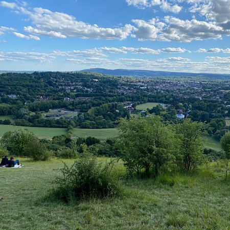 Box hill is a beautiful place to have a picnic and enjoy the view. You can go for long walks and there are several tracks which you can follow .  One of them leads to a beautiful  river we're there are stepping stone .  It's a pony walk but it's worth it .  It's worth a visit.