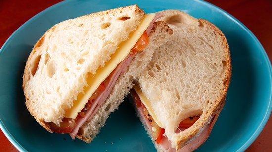 Fresh Ham Cheese Tomato Sandwich