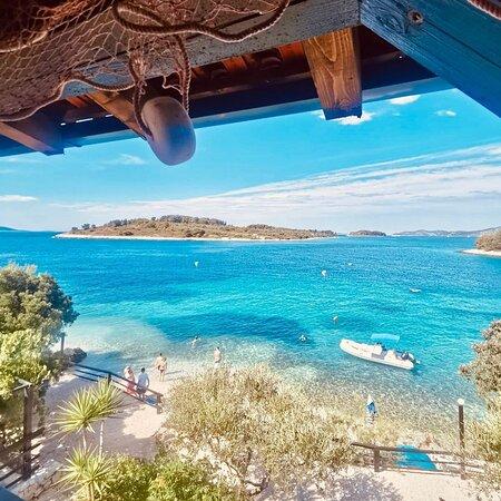 Arbanija, Hrvatska: Uvala duga beach, like the Maldives only 10 minutes from hotel