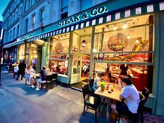 Steak & Co Garrick Street outdoor seating area
