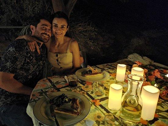 Tabaqat Fahl, Jordan: Candles lit dinner