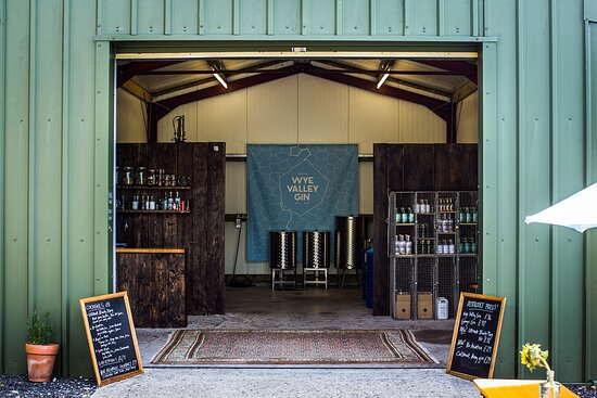 Tintern, UK : The view into the distillery from the yard.