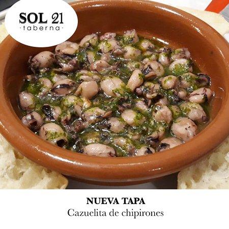 Taberna Sol 21: Cazuelita de chipirones. 
