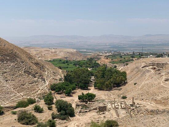 Irbid Governorate, Jordania: Birds' eye view of Pella
