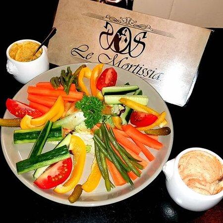 #apéro  : Assiette de légumes de saison à partager
