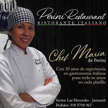 La gran Chef de Perini Restaurant❣que con su amplio conocimiento y pasión por la deliciosa gastronomía italiana podrás llevar a su mesa una fantástica experiencia culinaria 🍷😊