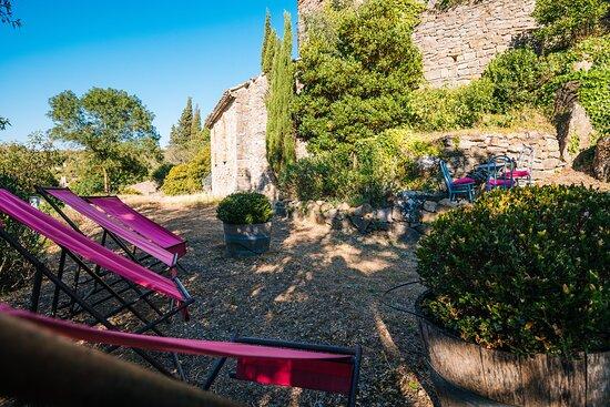 Saint-Pierre-des-Champs, Francia: Les abords des Gîtes**** Le Roc sur l'Orbieu entre Carcassonne et Narbonne