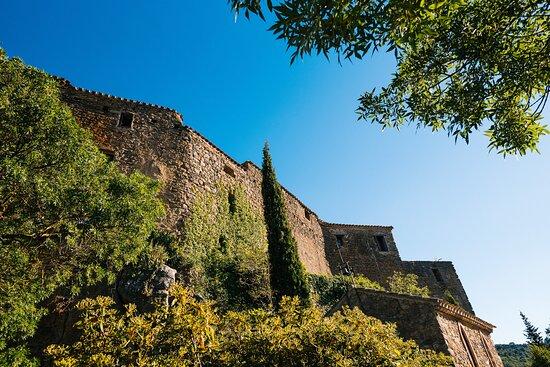 Saint-Pierre-des-Champs, Francia: rempart du château aux Gîtes**** Le roc sur l'Orbieu-location vacances entre Carcassonne et Narbonne