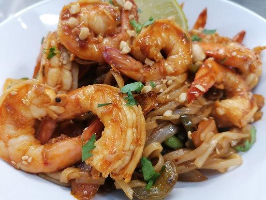 Crevettes sautées asiatique