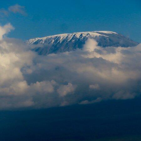 Oloitokitok, Kenya: The view of Mt. Kilimanjaro from the hotel