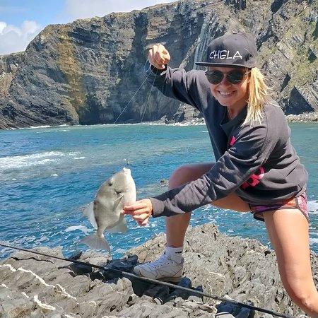 Aljezur, Portugal: Rock fishing, triggerfish.