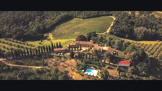 Montaione, Italie : Veduta aerea dell'Orzale