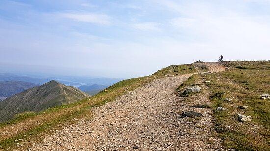 Waunfawr, UK: Starting the descent...