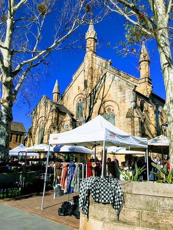 教会で開催されるマーケット