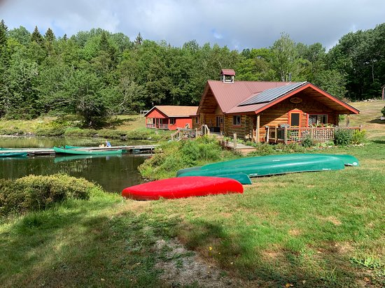 Portage, ME: Main lodge, Red River Camps