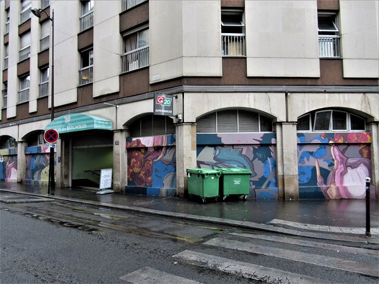 "Fresque ""marché Batignolles-2"""