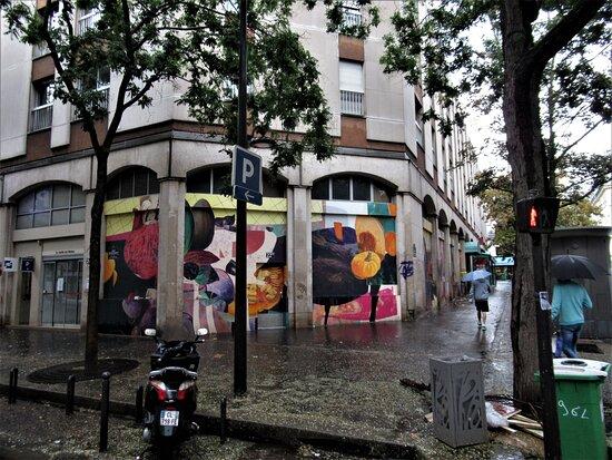 "Fresque ""marché Batignolles-3"""