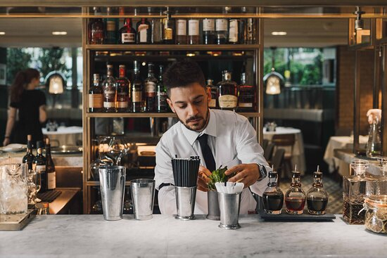 Our talented Barman, Peppe in action!