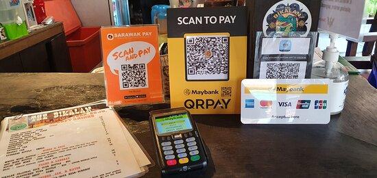 Cashless payment options at The Bikalan