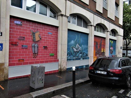 """Fresque """"marché Batignolles-1bis"""""""