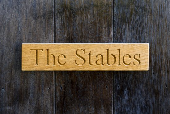 Cookbury, UK: The nameplate of Stables cottage