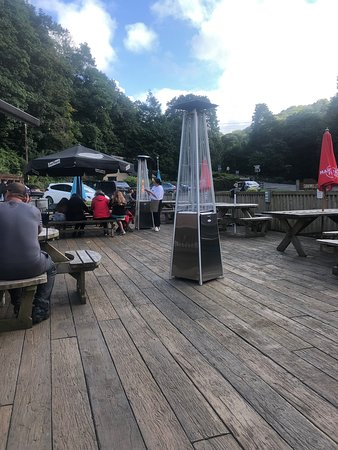 Watermouth, UK: Outdoor seating area