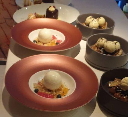 Delicious fresh desserts - all 7 euro each.