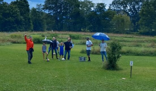 Canaan Valley, WV: Super Saturday at Chips Shots!  Rob Stull, Shannon McCann and family came out and played through the rain.  Die-hard locals!  Thanks everyone that joined us yesterday.  It was a blast!